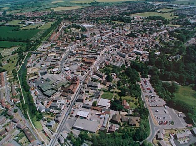 Devizes Town from the air